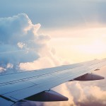 white-airplane-wing-on-sky